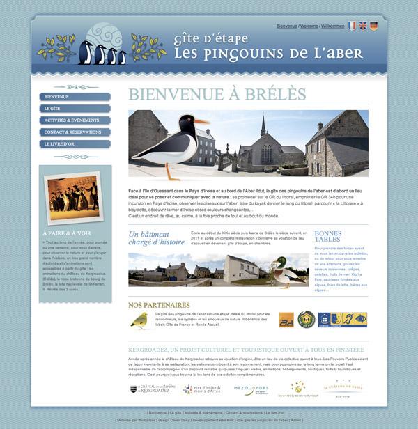 capture écran site pingouins de l'aber